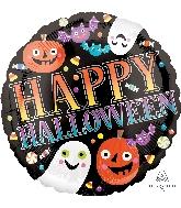 """18"""" Pumpkins, Ghosts & Bats Balloon"""