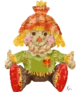 Airfill Only Sitting Scarecrow Balloon