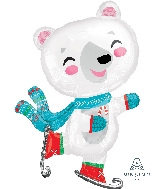 "33"" Jumbo Skating Bear Balloon"