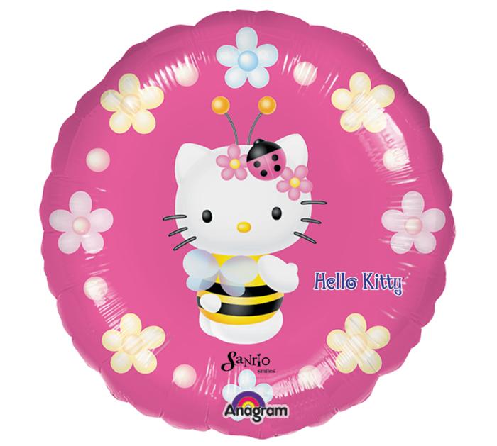"""9"""" Mini Balloon (Airfill Only) Hello Kitty Bee"""