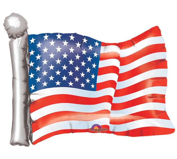"27"" Jumbo American Flag Balloon"