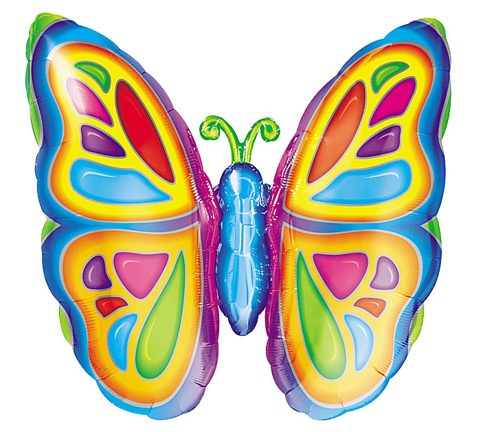"""25"""" Bright Colorful Butterfly Balloon"""