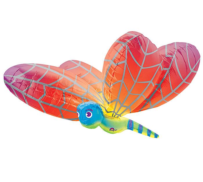 "40"" Rainbow Dragonfly Large Balloon"