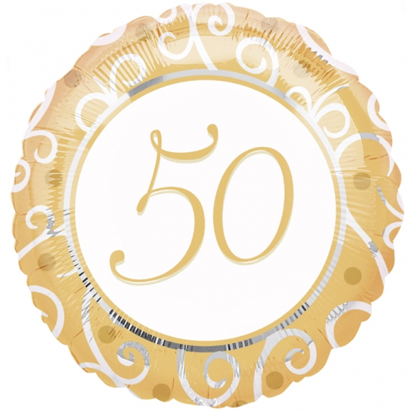 "18"" 50th Anniversary Mylar Balloon"