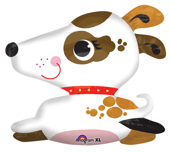 "31"" UltraShape Puppy Balloon Packaged"