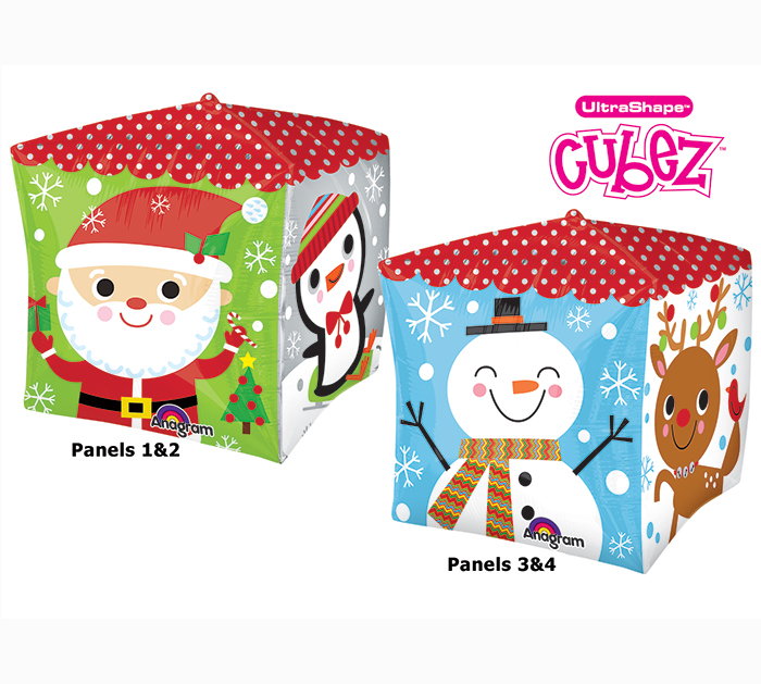 """15"""" Cubez Holiday Characters Balloon Packaged"""