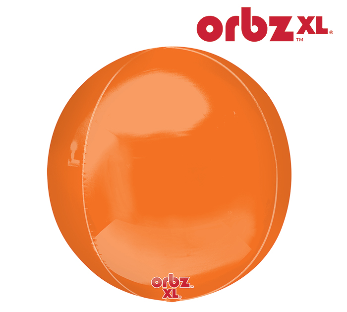 "16"" Orbz Orbz Orange Balloon"