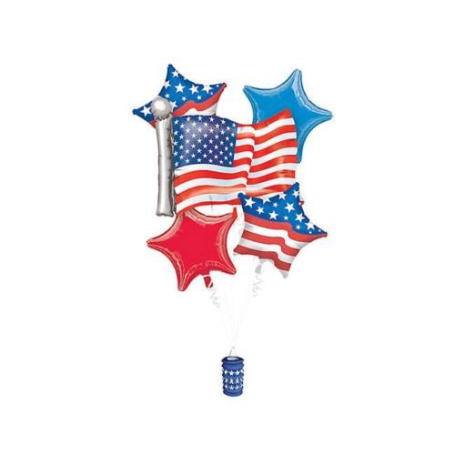 Bouquet Patriotic Balloon Packaged