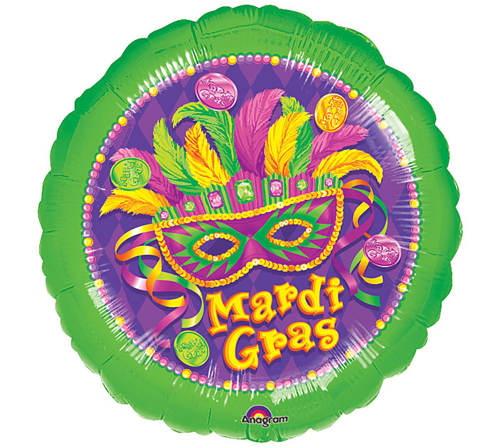 """18"""" Mardi Gras Masquerade Party Balloon"""