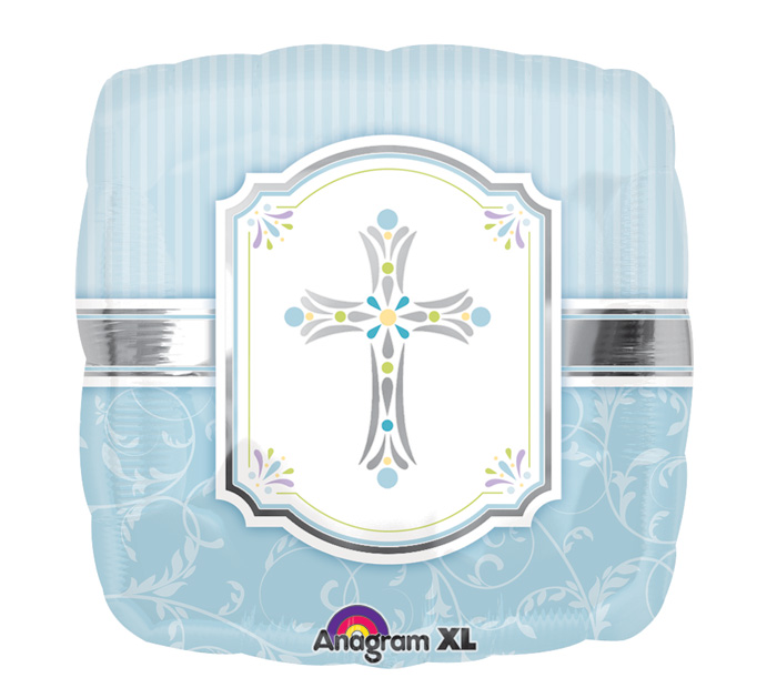 "18"" Communion Blessings Blue Mylar Balloon"