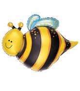"25"" Large Happy Bee Foil Balloon"