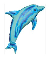 "37"" SuperShape Ocean Blue Dolphin Balloon"