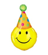 Airfill Only Mini Shape Party Hat Smiles Balloon