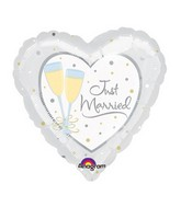 "18"" Just Married Mylar Balloon"