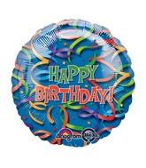 """32"""" Celebration Streamers Birthday Jumbo Balloon"""