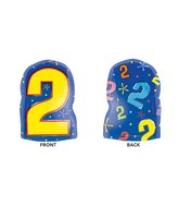 "18"" Junior Shape 2 Multi-Color Balloon Packaged"