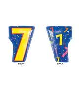 """20"""" Junior Shape 7 Multi-Color Balloon"""