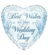 "18"" Wedding Doves Best Wishes Mylar Balloon"