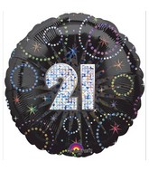 "18"" A Time To Party 21 Holographic Balloon"