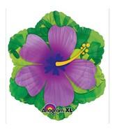 """18"""" Purple Hibiscus Shape Balloon"""