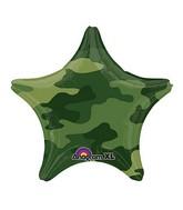 "18"" Camouflage Star Mylar Balloon"