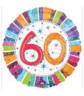 "18"" Holographic Radiant Birthday 60 Balloon"