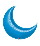 "17"" Airfill Only Mini Shape Blue Crescent Balloon"
