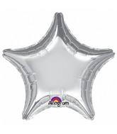 "32"" Large Balloon Silver Star"