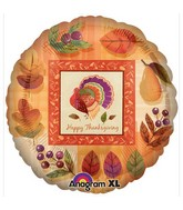 "18"" Watercolor Turkey Balloon"