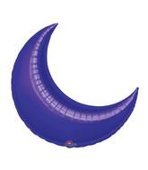 """35"""" Purple Crescent Moon Balloon"""