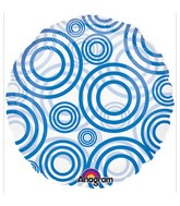 "18"" Circles Blue"