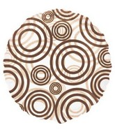 "18"" See-Thru Circles Brown Balloon Packaged"