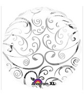 "18"" Silver Swirl Balloon"
