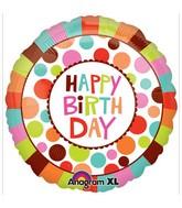 "32"" Happy Birthday Dots Jumbo Balloon"