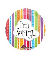 "18"" I'm Sorry Colorful Lines Balloon Packaged"
