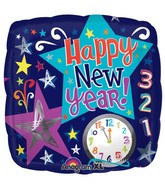 """18"""" Count Down New Year Stars Balloon Packaged"""