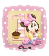 """18"""" Minnie Mouse 1st Birthday Balloon"""
