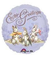 """18"""" Vintage Easter Greetings Balloon"""