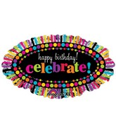 "31""Happy Birthday Rainbow Celebrate SuperShape"