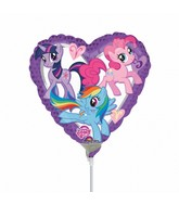 """9"""" My Little Pony Purple Heart Balloon"""