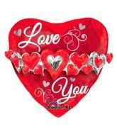 """23"""" Love You Heart Garland Multi-Balloon"""