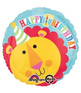 "18"" Fisher Price Happy 1st Birthday Lion"