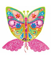 "33"" SuperShape Intricates Butterfly Balloon Packaged"
