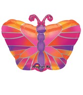Junior Shape Hot Pink Butterfly Balloon