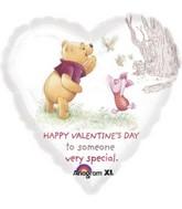 "18"" Happy Valentines Day Pooh & Piglet Balloon"