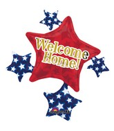 "35"" SuperShape Welcome Home Star Cluster Balloon Packaged"