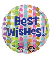 """18"""" Bright Best Wishes Balloon Packaged"""