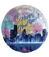 """32"""" Jumbo Holographic Panoramic New Years Skyline"""