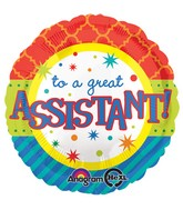 """18"""" Assistant Bright Patterns Balloon"""