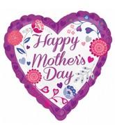 "18"" Happy Mother's Day Purple Balloon"